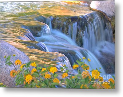 Tumbling Waters Metal Print by Deb Halloran