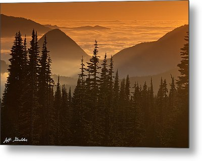 Metal Print featuring the photograph Tumtum Peak At Sunset by Jeff Goulden