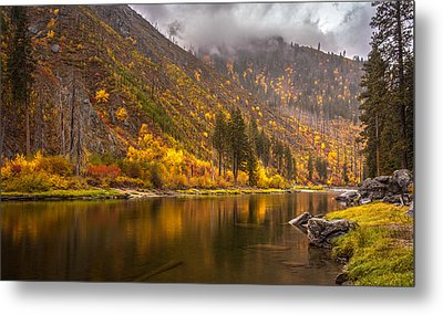 Tumwater Canyon Fall Serenity Metal Print by Mike Reid