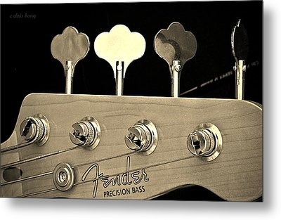 Fender Precision Bass Metal Print by Chris Berry