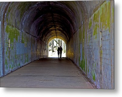 Tunnel Of Love Metal Print by SC Heffner