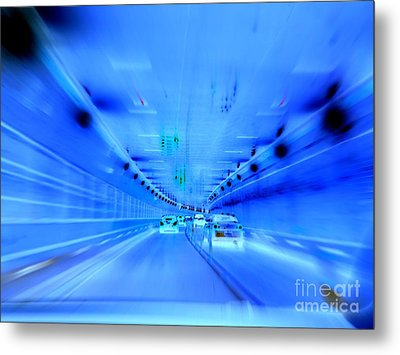 Tunnel Tension Metal Print by Ed Weidman