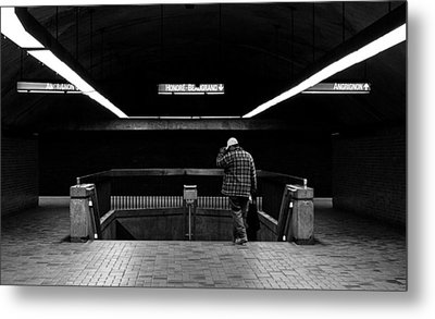 Tunnels - Darker 1 Metal Print by Eric Soucy