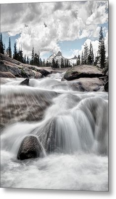 Tuolumne River And Unicorn Peak Metal Print by Chris Frost