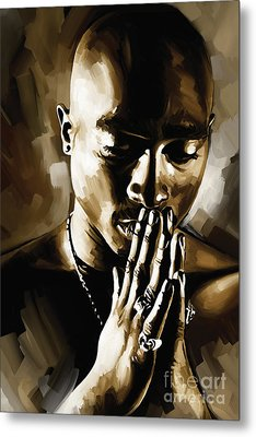 Tupac Shakur Artwork  Metal Print by Sheraz A