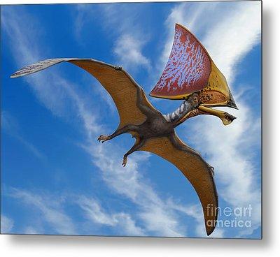 Tupandactylus Imperator, A Pterosaur Metal Print by Sergey Krasovskiy