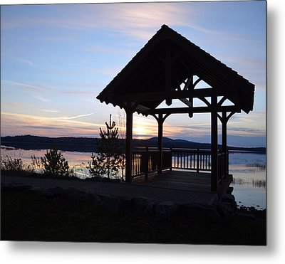 Tupper Lake Sunset Over Raquette Pond Metal Print by Maggy Marsh