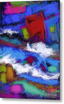 Turbulence Metal Print by Keith Mills