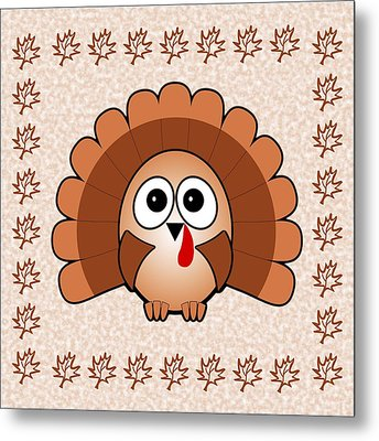 Turkey - Birds - Art For Kids Metal Print