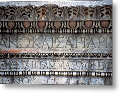 Turkey, Ephesus Ruin Of Roman Metal Print by Jaynes Gallery
