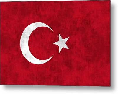 Turkey Flag Metal Print