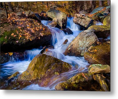Metal Print featuring the photograph Turkey Hill Pond Stream by Steve Zimic