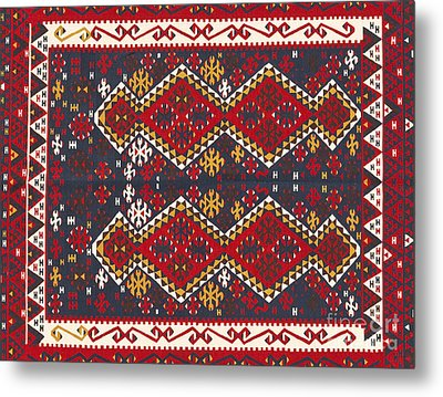 Turkish Carpet Metal Print by Emirali  KOKAL