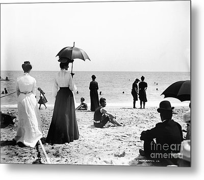 Turn Of The Century Palm Beach Metal Print by LOC Science Source