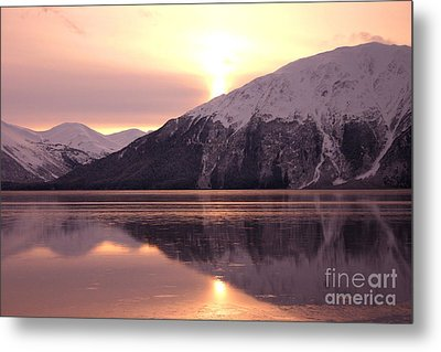 Turnagain Arm Morning Metal Print by Crystal Magee