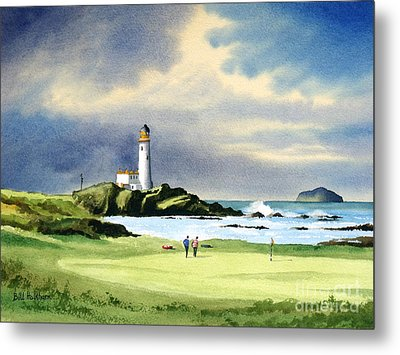 Turnberry Golf Course Scotland 10th Green Metal Print by Bill Holkham