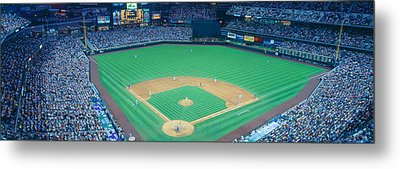 Turner Field At Night, World Champion Metal Print by Panoramic Images