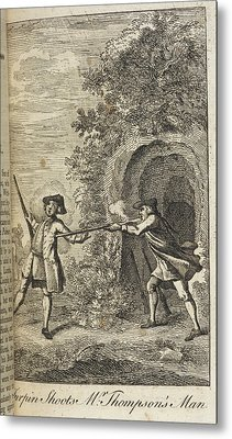 Turpin Shoots Mr Thompson's Man Metal Print by British Library