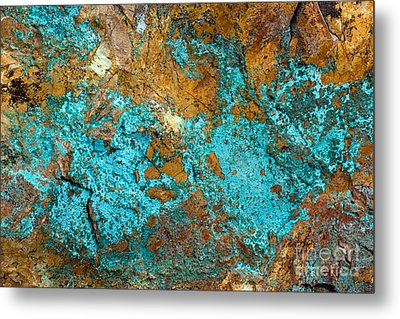 Metal Print featuring the photograph Turquoise Abstract by Chris Scroggins
