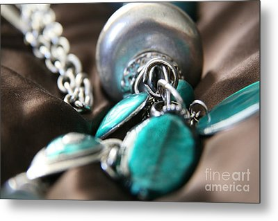 Metal Print featuring the photograph Turquoise And Silver by Lynn England