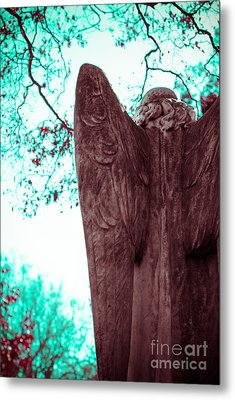Turquoise Angel Metal Print by Sonja Quintero