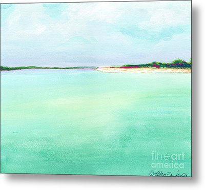 Turquoise Caribbean Beach Horizontal Metal Print