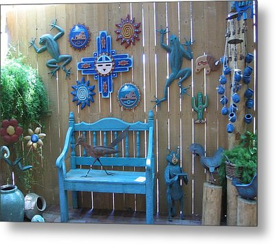Metal Print featuring the photograph Turquoise Corner by Dora Sofia Caputo Photographic Art and Design