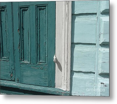 Metal Print featuring the photograph Turquoise Door by Valerie Reeves