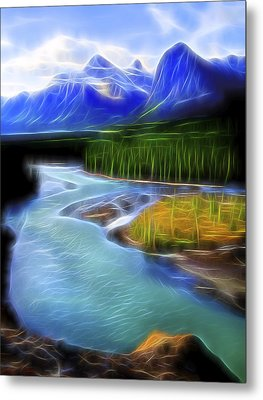Metal Print featuring the digital art Turquoise Light 1 by William Horden