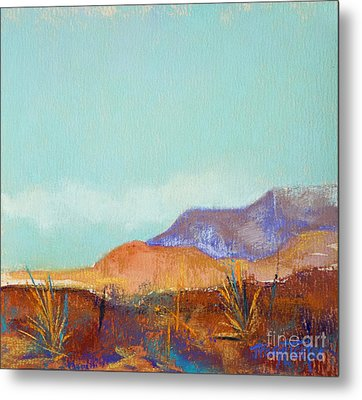 Turquoise Mountains Metal Print by Tracy L Teeter
