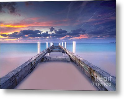 Turquoise Paradise Metal Print by Marco Crupi