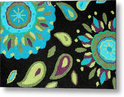 Metal Print featuring the photograph Tapestry Turquoise Rug by Janette Boyd