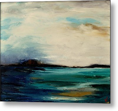 Metal Print featuring the painting Turquoise Sea by Lindsay Frost