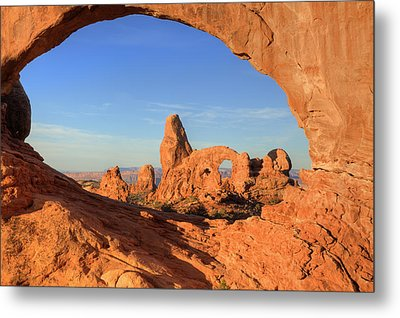 Metal Print featuring the photograph Turret Arch Through North Window by Alan Vance Ley