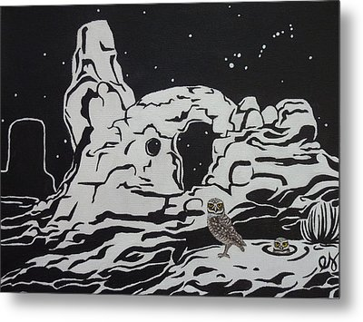 Turret Arch Under The Stars Metal Print by Estephy Sabin Figueroa