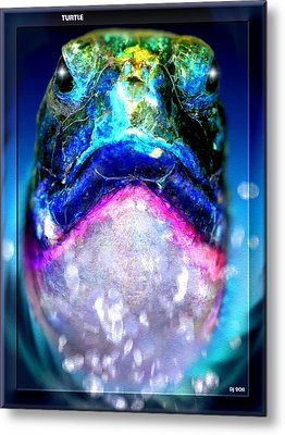 Metal Print featuring the digital art Turtle by Daniel Janda