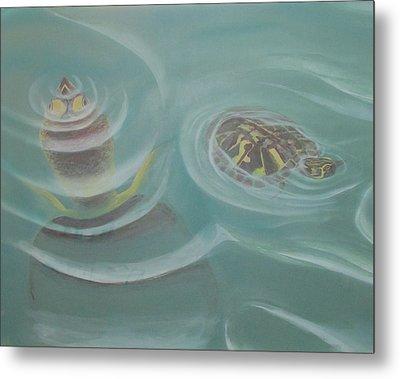 Turtle Pond I Metal Print