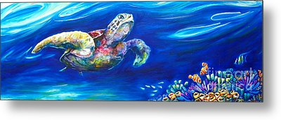 Turtle Reef Metal Print