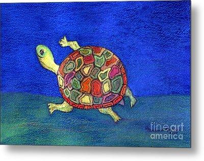 Turtle Trot Metal Print by Marlene Robbins