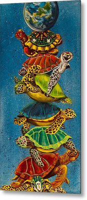 Turtles All The Way Down Metal Print