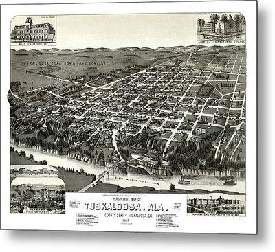 Tuscaloosa - Alabama - 1887 Metal Print by Pablo Romero