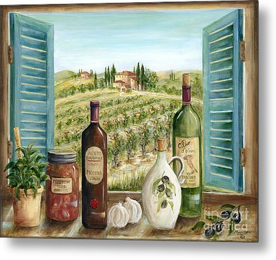 Tuscan Delights Metal Print by Marilyn Dunlap