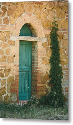 Tuscan Door Metal Print by Clint Brewer