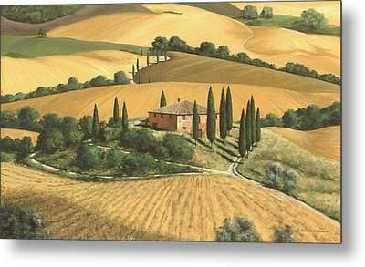 Tuscan Gold - Sold Metal Print by Michael Swanson