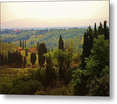Tuscan Landscape Metal Print by Dany Lison