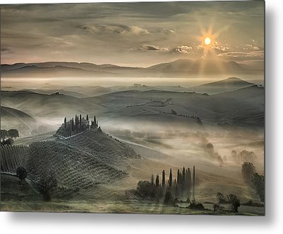 Tuscan Morning Metal Print by Christian Schweiger