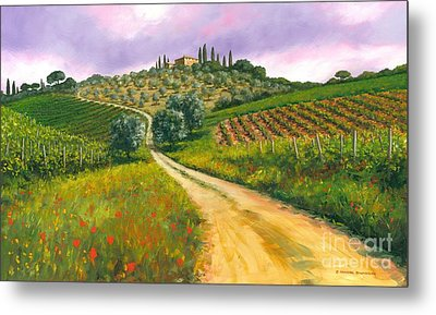 Tuscan Road Metal Print by Michael Swanson