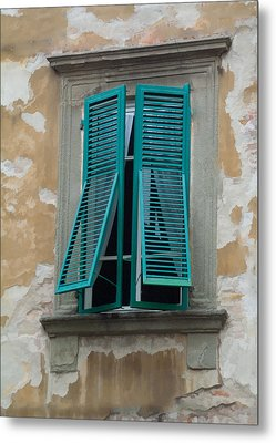 Tuscan Shutters Metal Print by Michael Flood