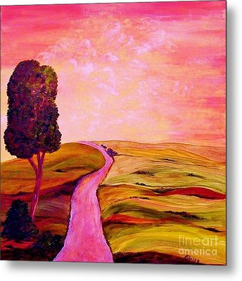 Metal Print featuring the painting Tuscan Skies ... An Impressionist View by Eloise Schneider