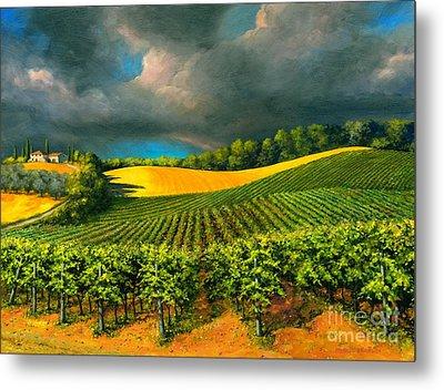 Tuscan Storm Metal Print by Michael Swanson